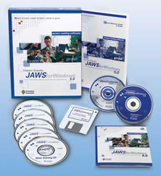 Contents of the Jaws for Windows software