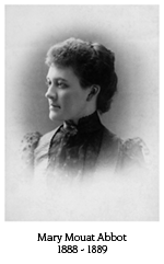 Mary Mouat Abbot, 1888-1889
