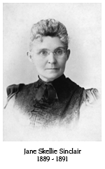 Jane Skellie Sinclair, 1889-1891