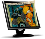 computer monitor displaying Chicago Tribune