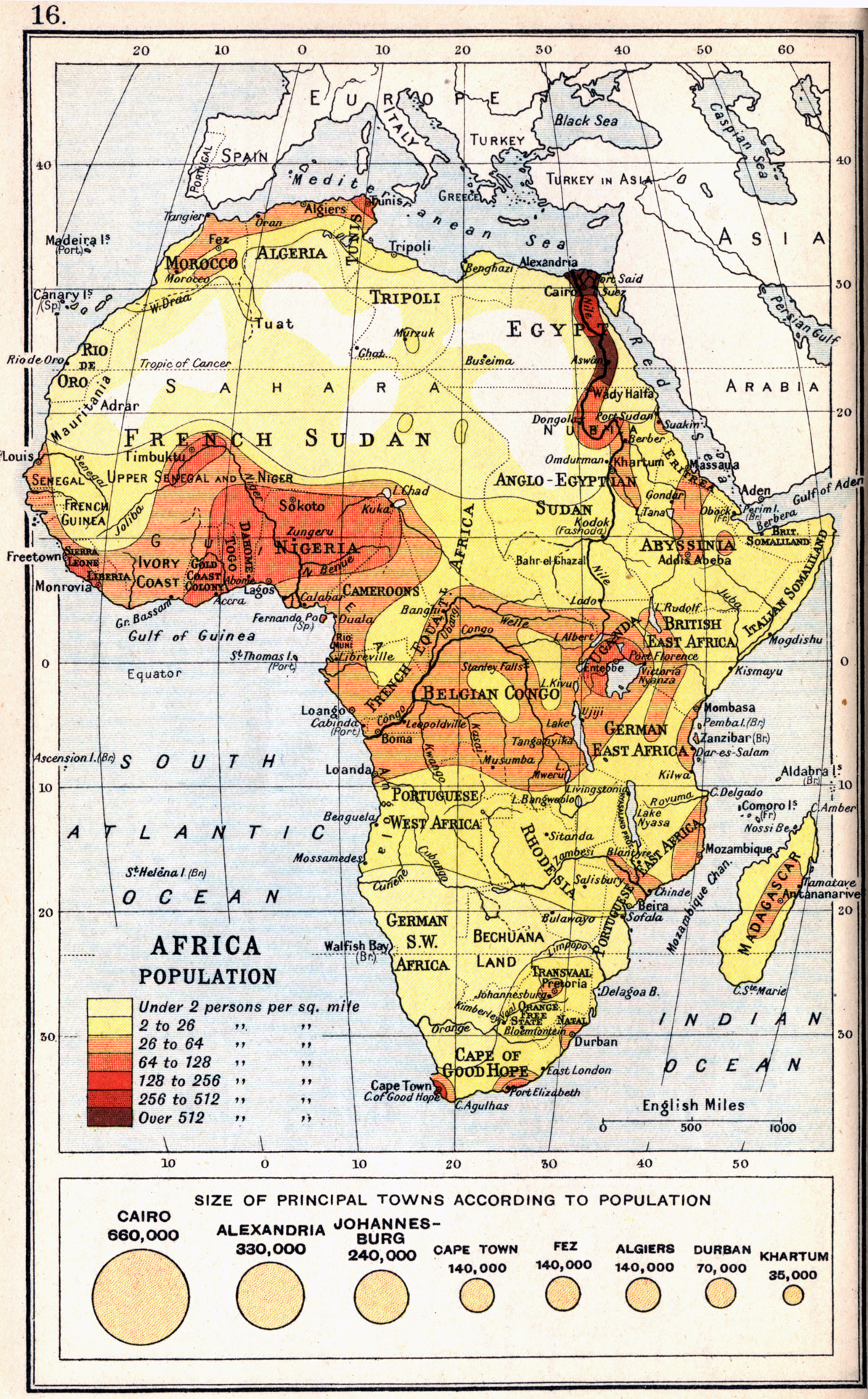 1913, Africa Population, from A Literary and Historical ...