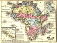 Map of Africa, 1886, thumbnail image
