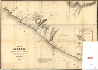 Map of Liberia thumbnail image