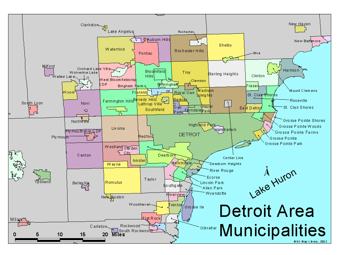 Detroit Map Related Keywords Amp Suggestions  Detroit Map