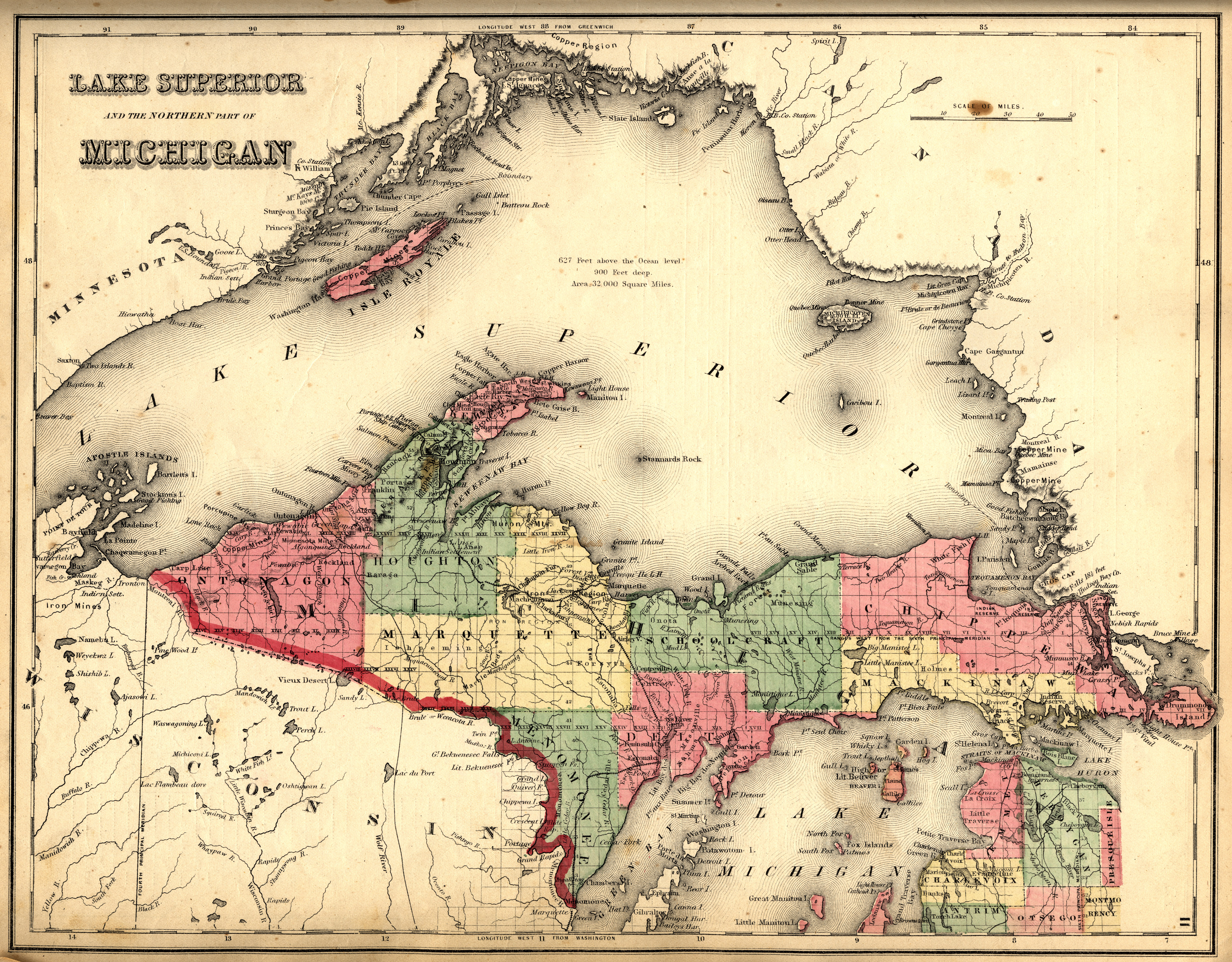 Upper Peninsula Map Map3