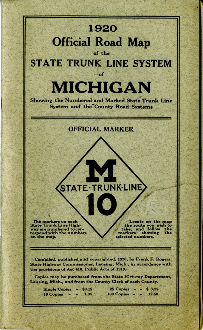 Scanned Maps Collection Map Library MSU Libraries - Michigan road map