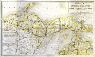 1920, Official Road Map (Upper Peninsula)