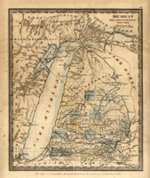 Michigan 1831 map