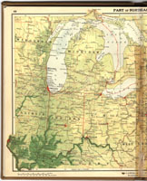 Michigan map from Goode's atlas, 1923 thumbnail image