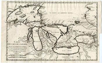 Carte des Lacs du Canada