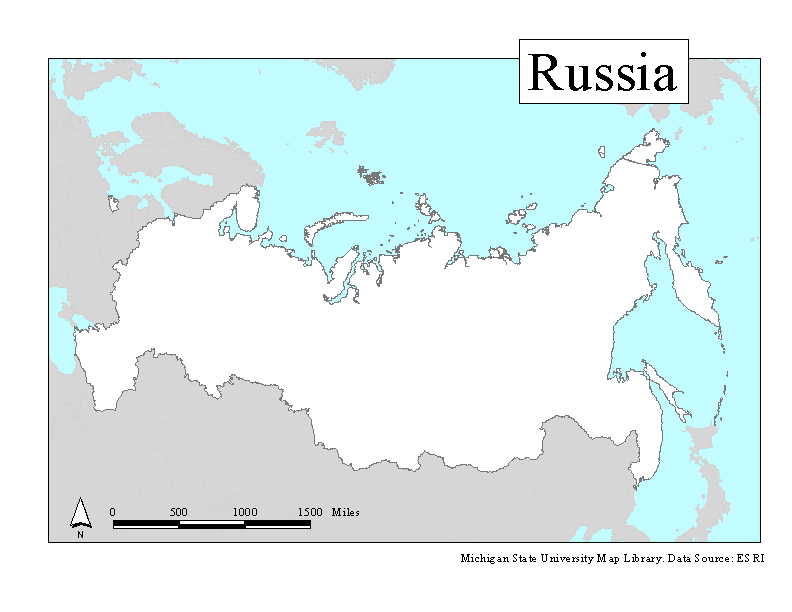 photo about Printable Map of Russia named Printable Map Of Russia