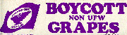 Boycott Non UFW Grapes bumper sticker