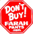 Don't Buy Farah Pants stop sign sticker
