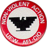 Non-Violent Action, UFW AFL-CIO button