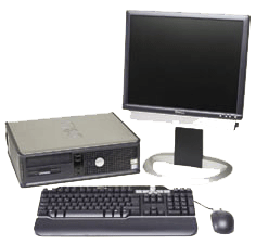 Dell Small Form Factor Desktop Workstation, Monitor, Keyboard and Mouse