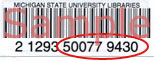 An example of an MSU ID barcode