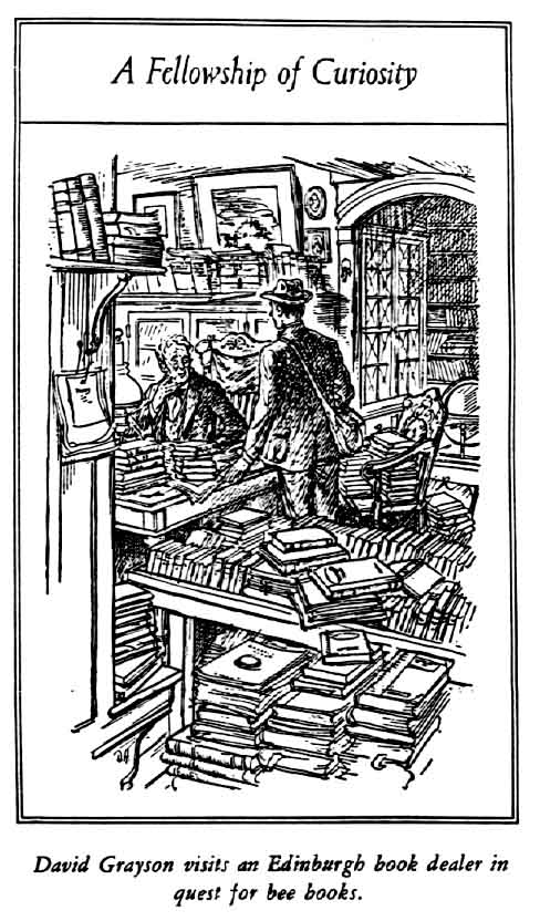 'A fellowship of curiousity' -- image of a man inside a bookshop in Edinburgh