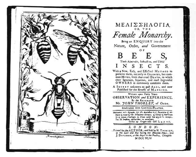 Title page and frontispiece of one of Ray Stannard Baker's books on bees