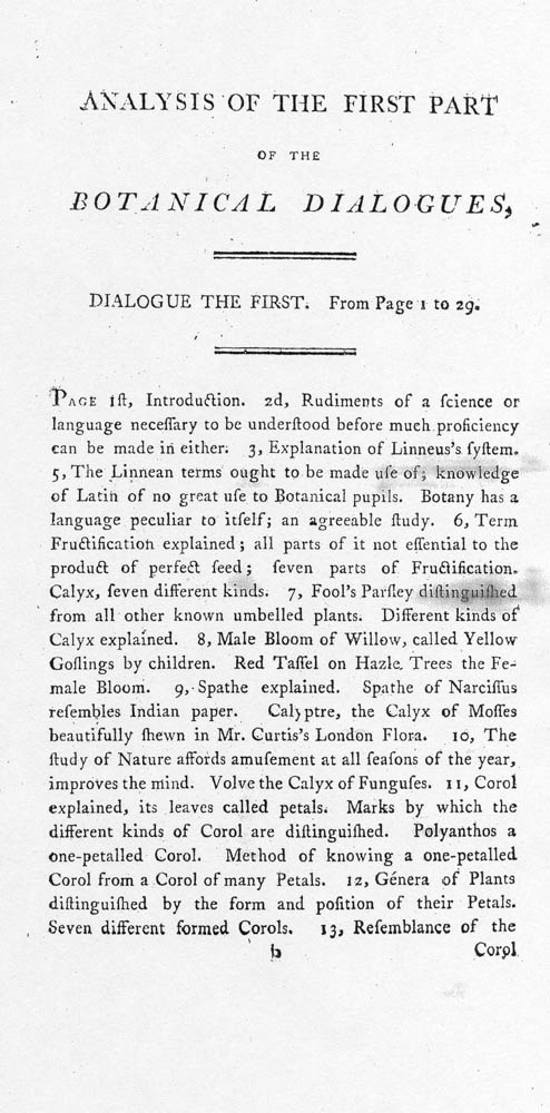 (2 of 2) Page in Botanical Dialogues, Between Hortensia and Her Four Children...