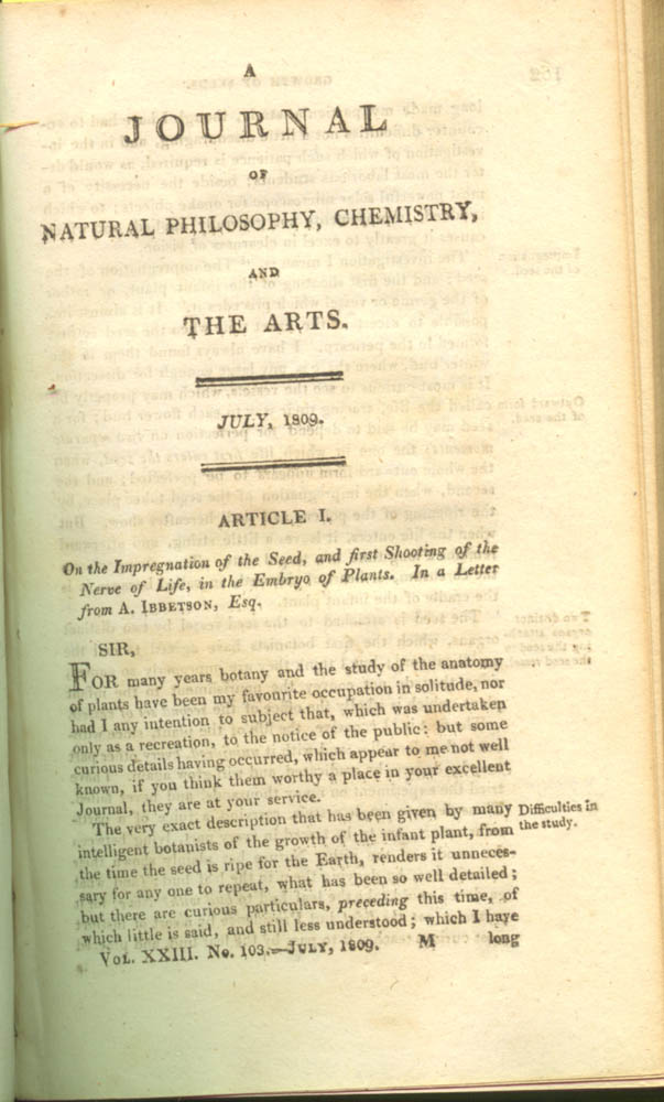 Page 161 of The Journal of Natural Philosophy, Chemistry, and the Arts, 1809