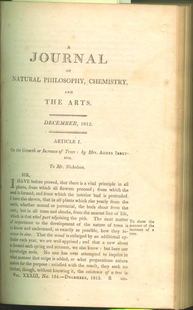 Page 241 of A Journal of Natural Philosophy, Chemistry, and the Arts, volume 33, 1812
