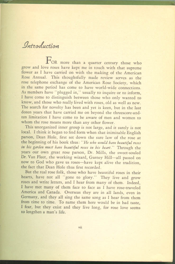Page vii of My Friend the Rose by Francis Edward Lester