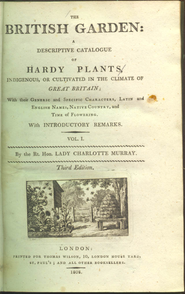 Title page of The British Garden by Charlotte Murray