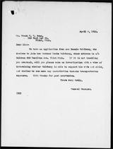 Frank Swan letter
