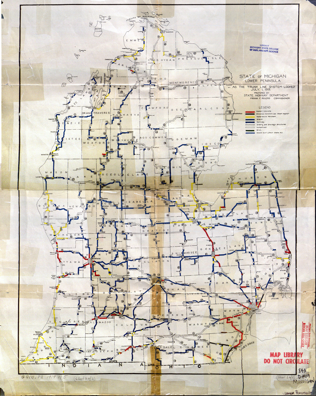 nd michigan lower peninsula 1919