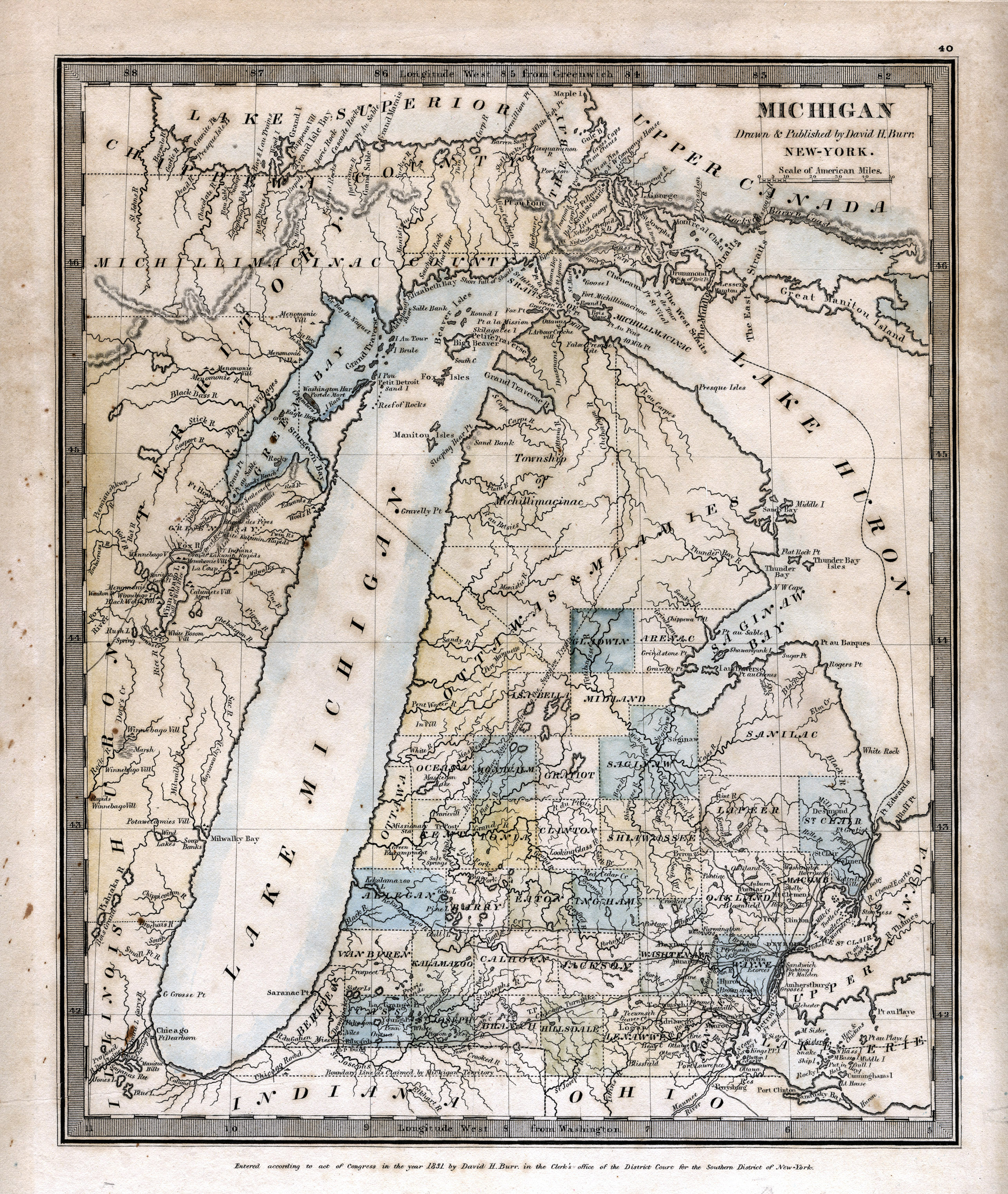 part 1 michigan as a territory michigan road maps exhibts msu libraries part 1 michigan as a territory