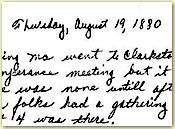 Diary example