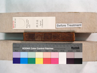 the spine of a poetry book in fairly good condition before repair