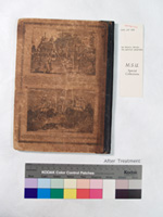 rear view of book after repair