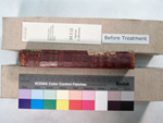 spine of book where leather joints have deteriorated