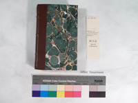 book with binding repaired and new cover