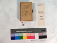 small book with cover of ivory