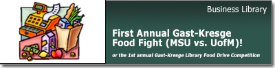 First Annual Gast-Kresge Food Fight (MSU-UM)!