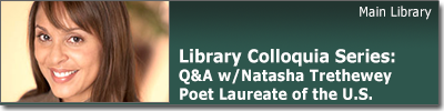 Colloquia Series:Q & A with Natasha Trethewey, Poet Laureate of the United States April 2 at 3:30 pm