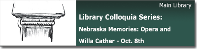 Library Colloquia Series -- Nebraska Memories