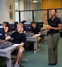 Leslie Brown teaching a class