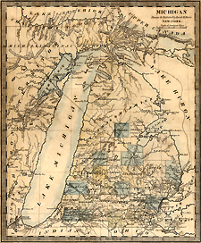 a map of Michigan from 1831