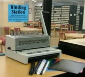 Comb Binder and Self-Serve Binding Station