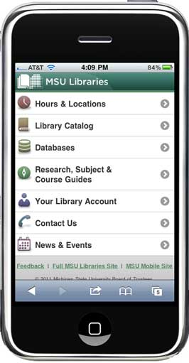 mobile site as seen on an iphone