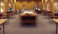 the Special Collections reading room at the MSU Library